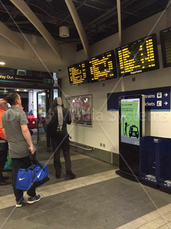 Network Rail – Mobile platform Digital Signage