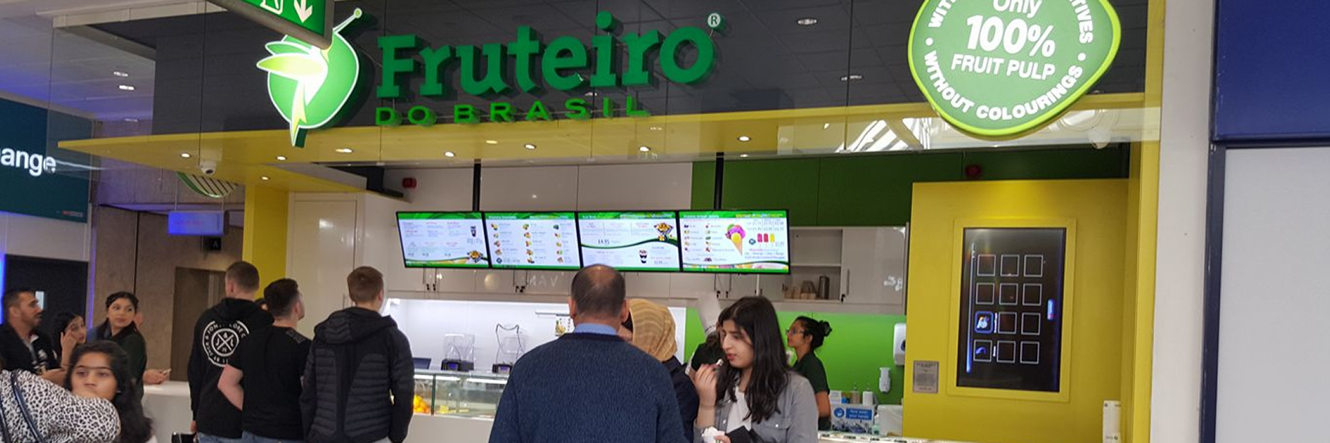 Digital Menu Board installation at Fruteiro in Manchester