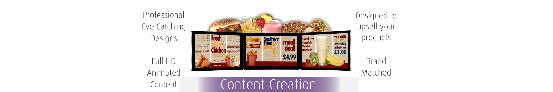 Full HD Content Creation for Digital Advertising Screens