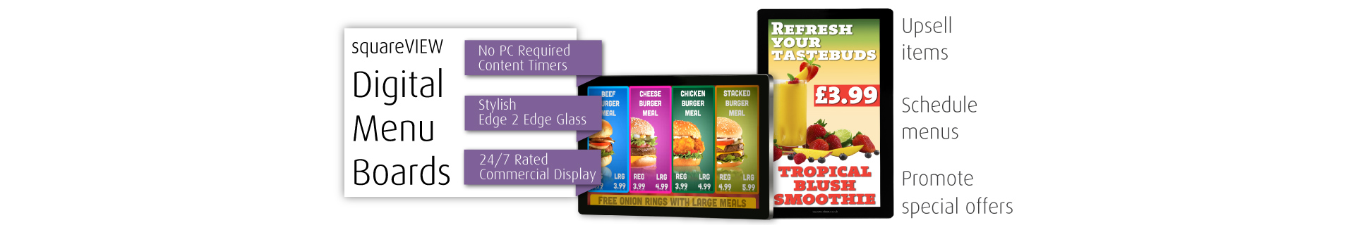 Digital Menu Boards Screens