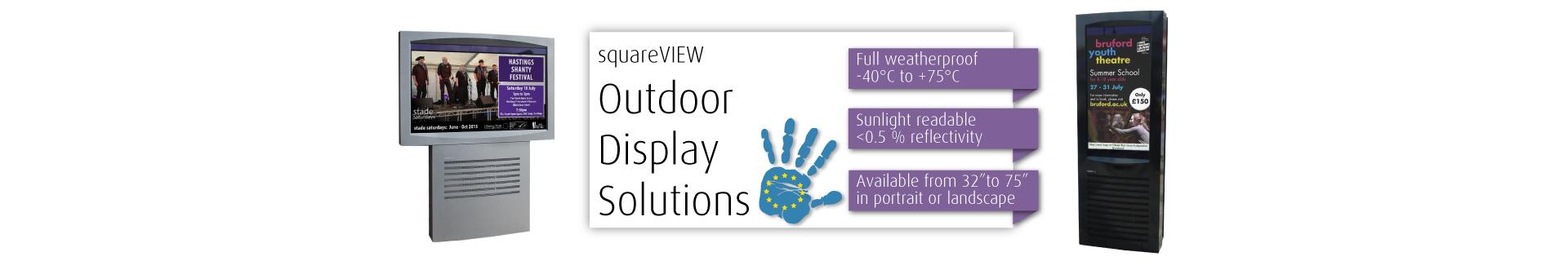 Digital Outdoor Advertising Totem Screens