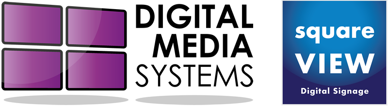 Digital Media Systems Digital Signage Company squareVIEW Logo