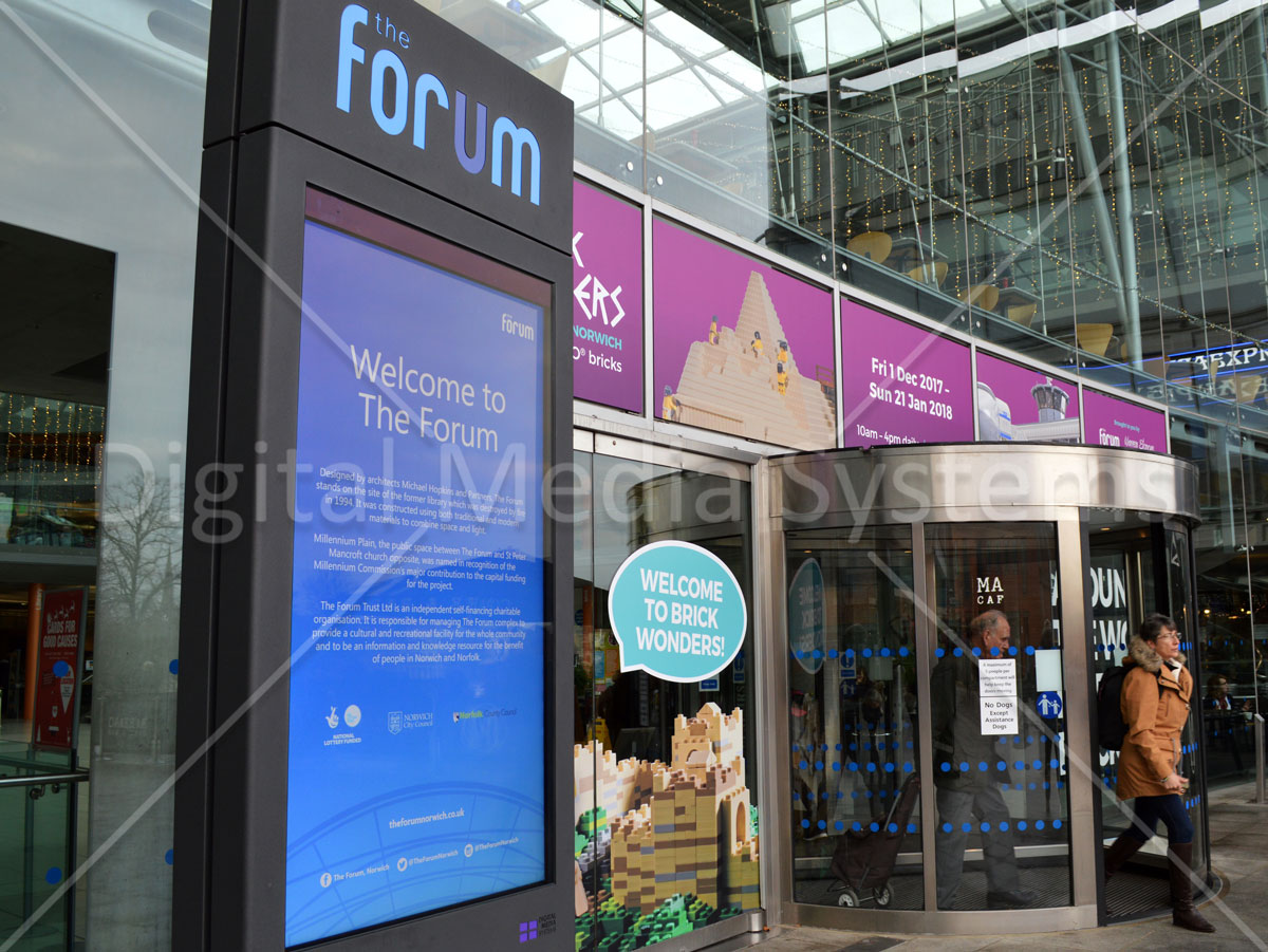 75 inch Digital Display for outdoor visitor welcome information