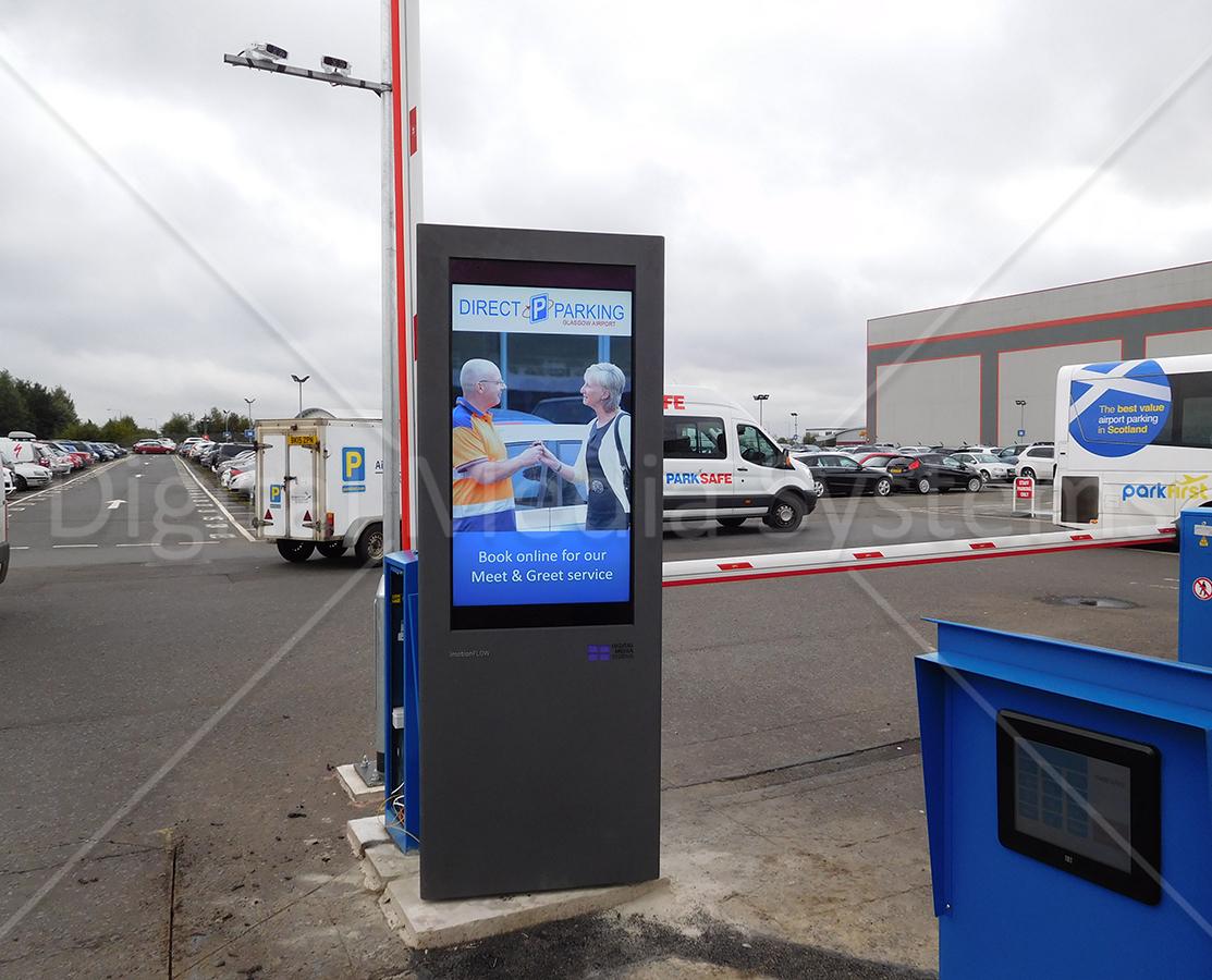 Outdoor Weatherproof Displays for Glasgow Airport