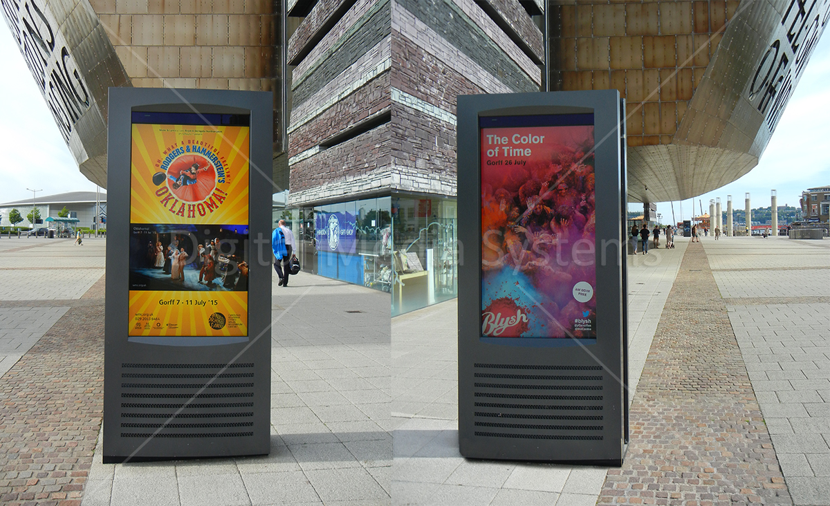 Outdoor Weatherproof Totems for WMC Cardiff