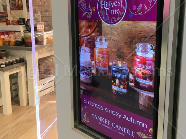 Yankee Candle – In store Digital Screens