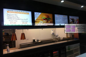 BURGER:CO install 4 Digital Menu Boards