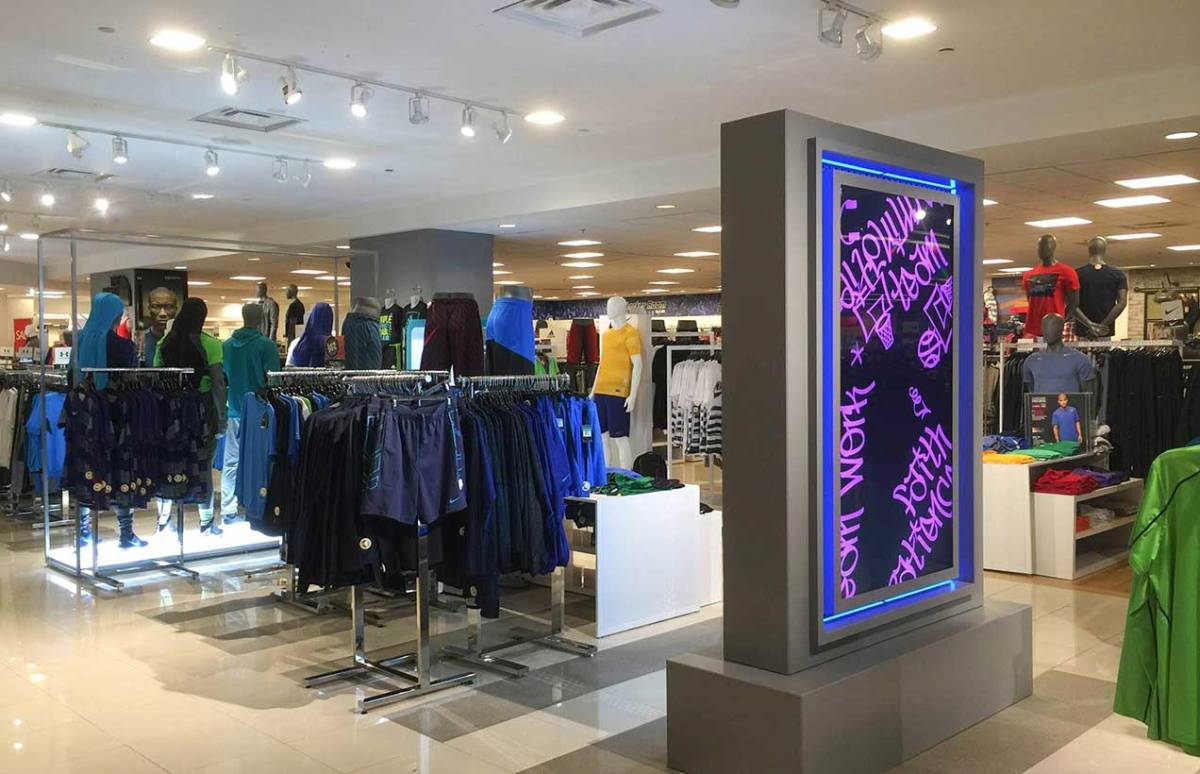 Instore digital advertising pod display screen