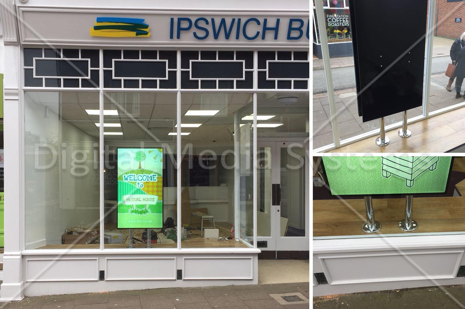Ipswich Building Society Window Digital Sign Screen