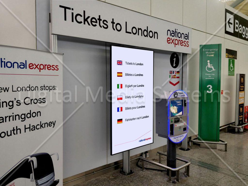 Close Up of National Express Digital Signage