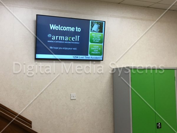 Armacell Digital Signage & Visitor Sign in