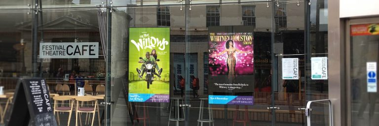 Ultra High Bright window displays – Festival Theatre, Edinburgh