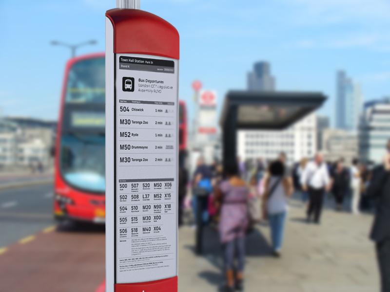 e-Paper Signage travel information