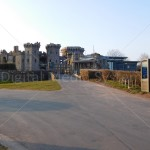 Outdoor Screen installed for Raglan Castle