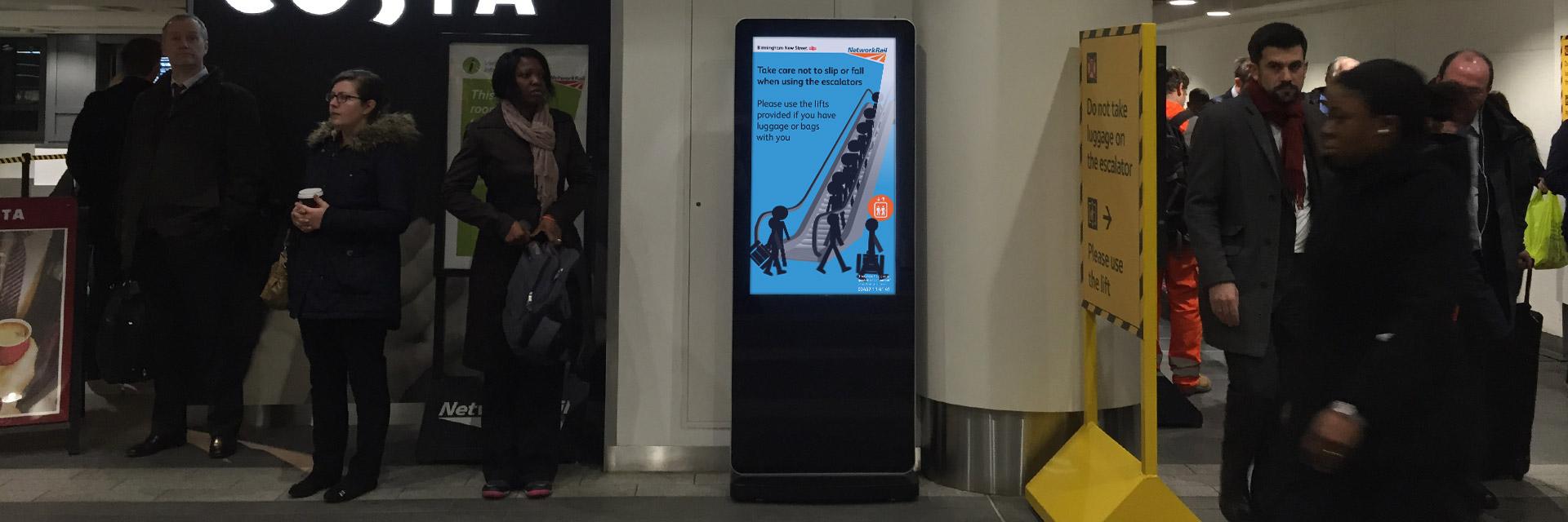 Freestanding Totem Network Rail