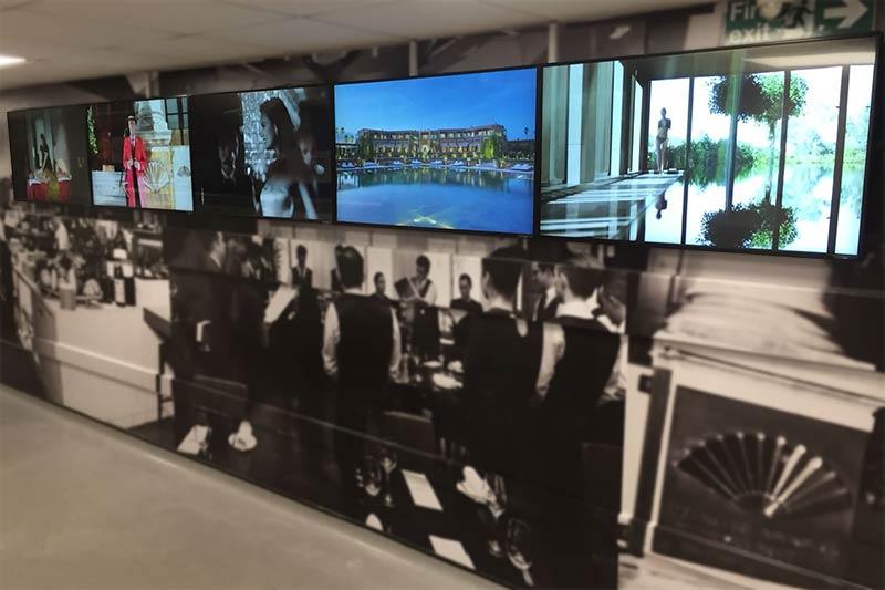 Digital Signage Display at Mandarin Oriental Hotel Group