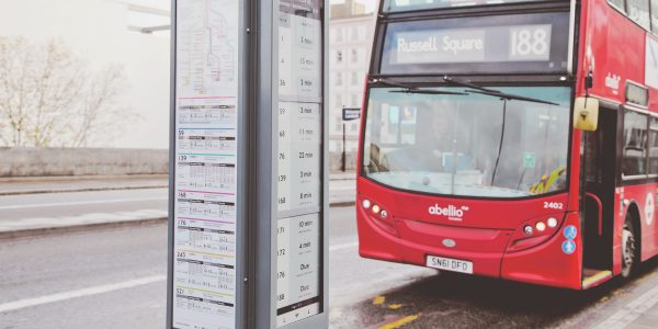 Bus stop with Digital Sign e ink