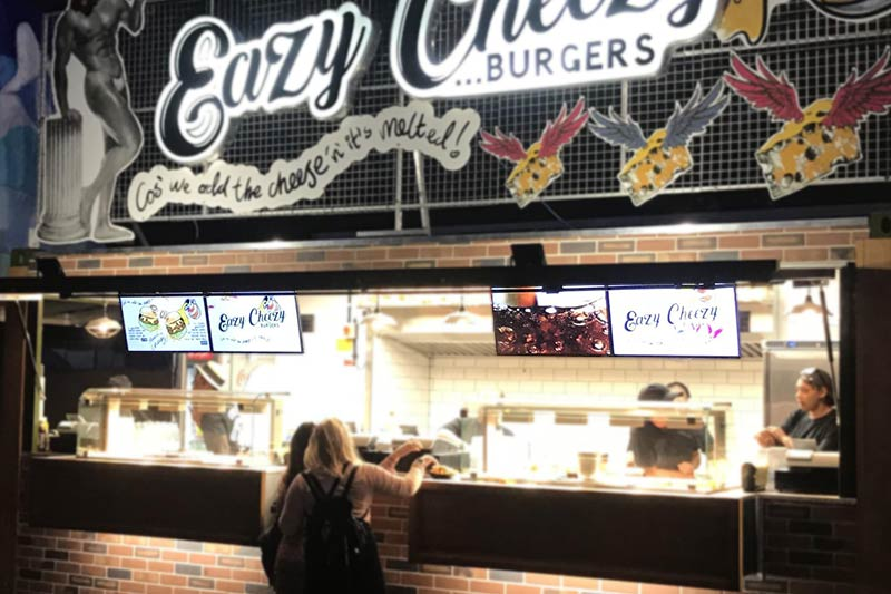 Eazy Cheezy Fast Food Menu Boards