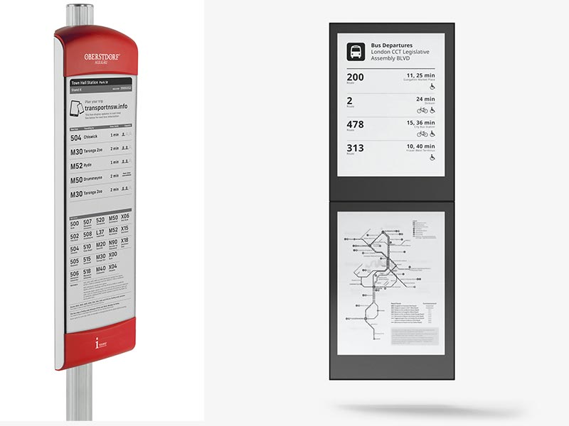 Electronic Paper Bus Stop
