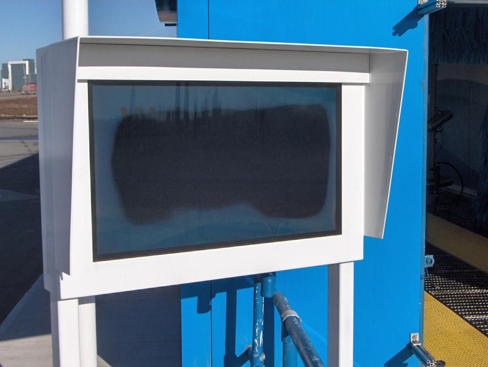 Failed LCD screen inside enclosure