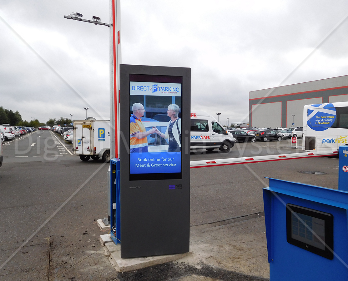 Exhibition Displays Glasgow : Outdoor display screens glasgow airport totems displays