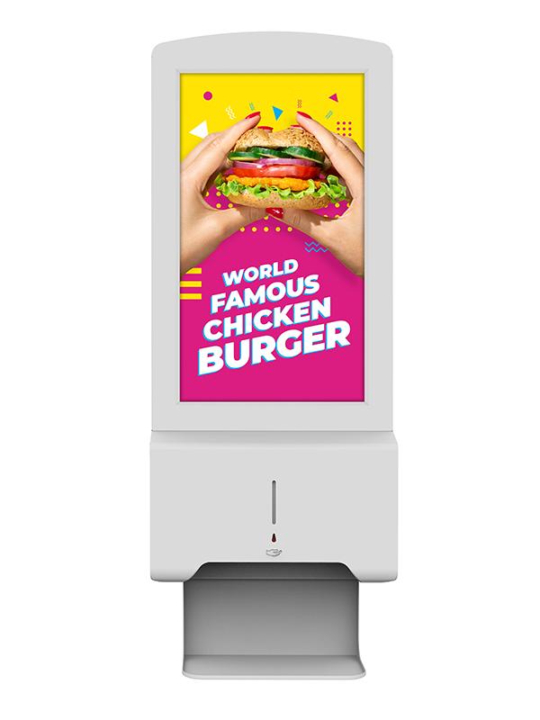 Digital Hand-Sanitiser Advertising Display