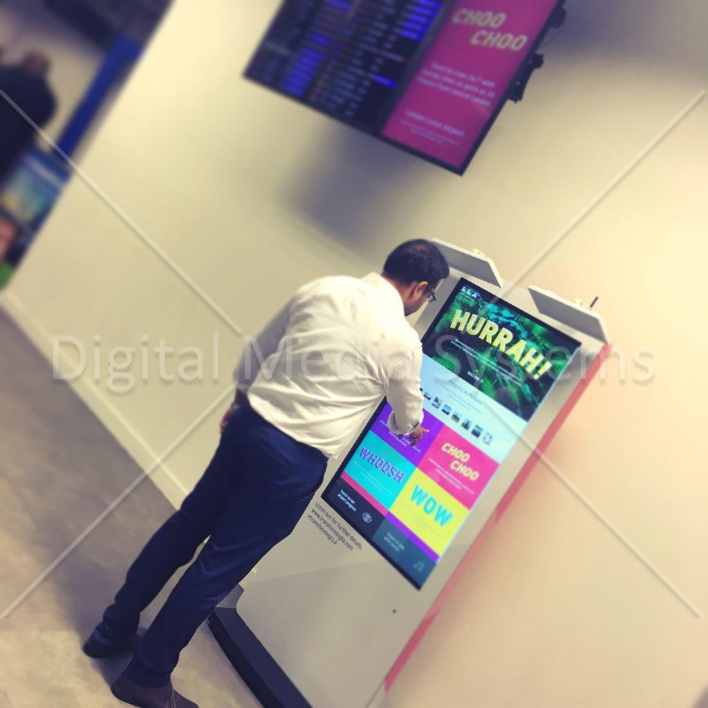 London Luton Airport Interactive Totems wm