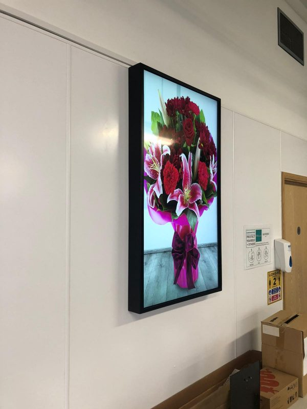Digital Display Screens at MM Flowers