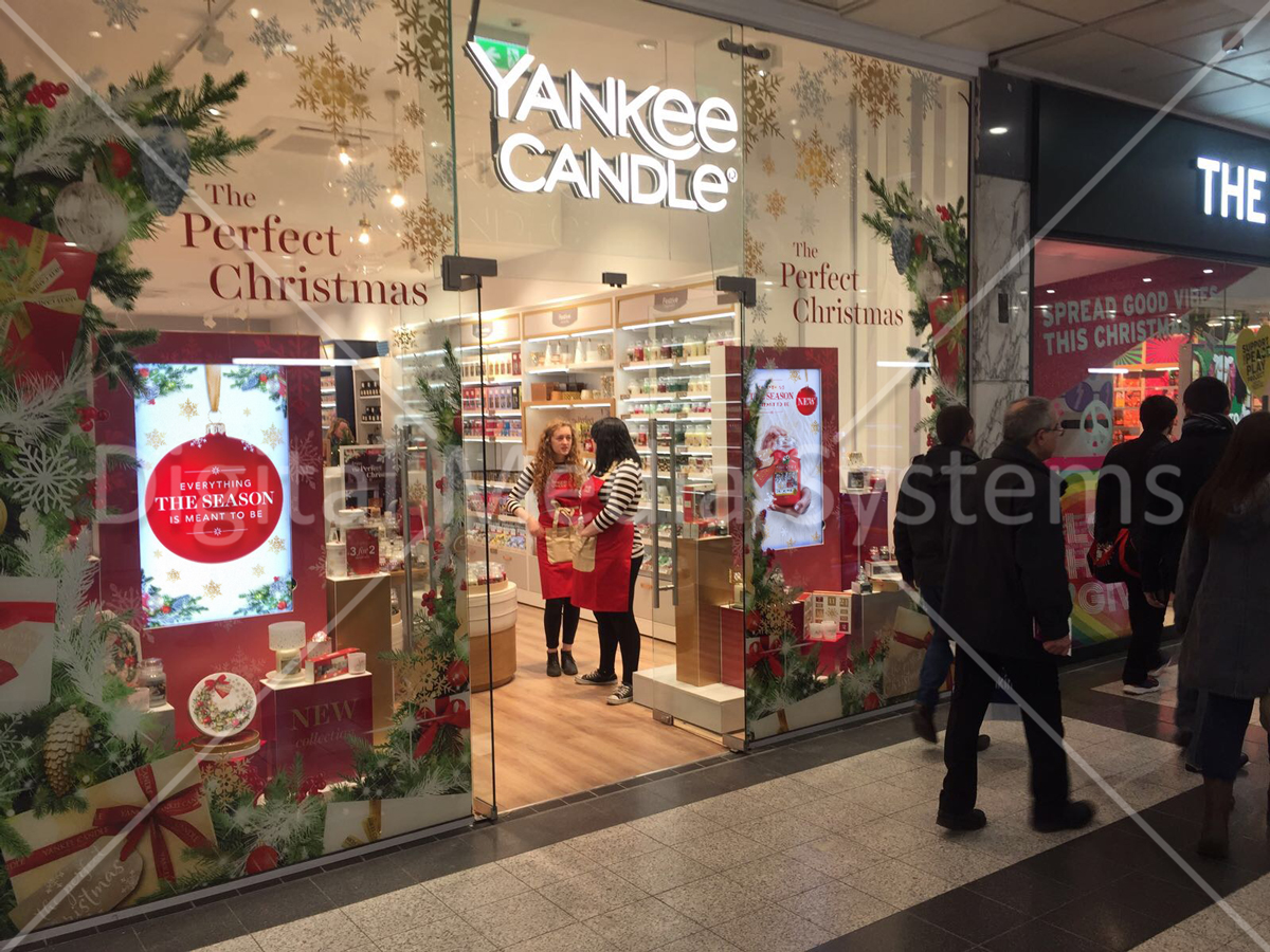 "Yankee Candle Screens at Manchester Arndale 49"" Advertising"