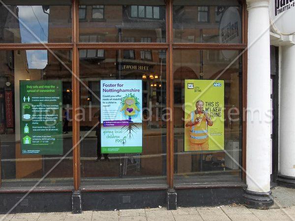Mansfield Palace Theatre Window Digital Sign