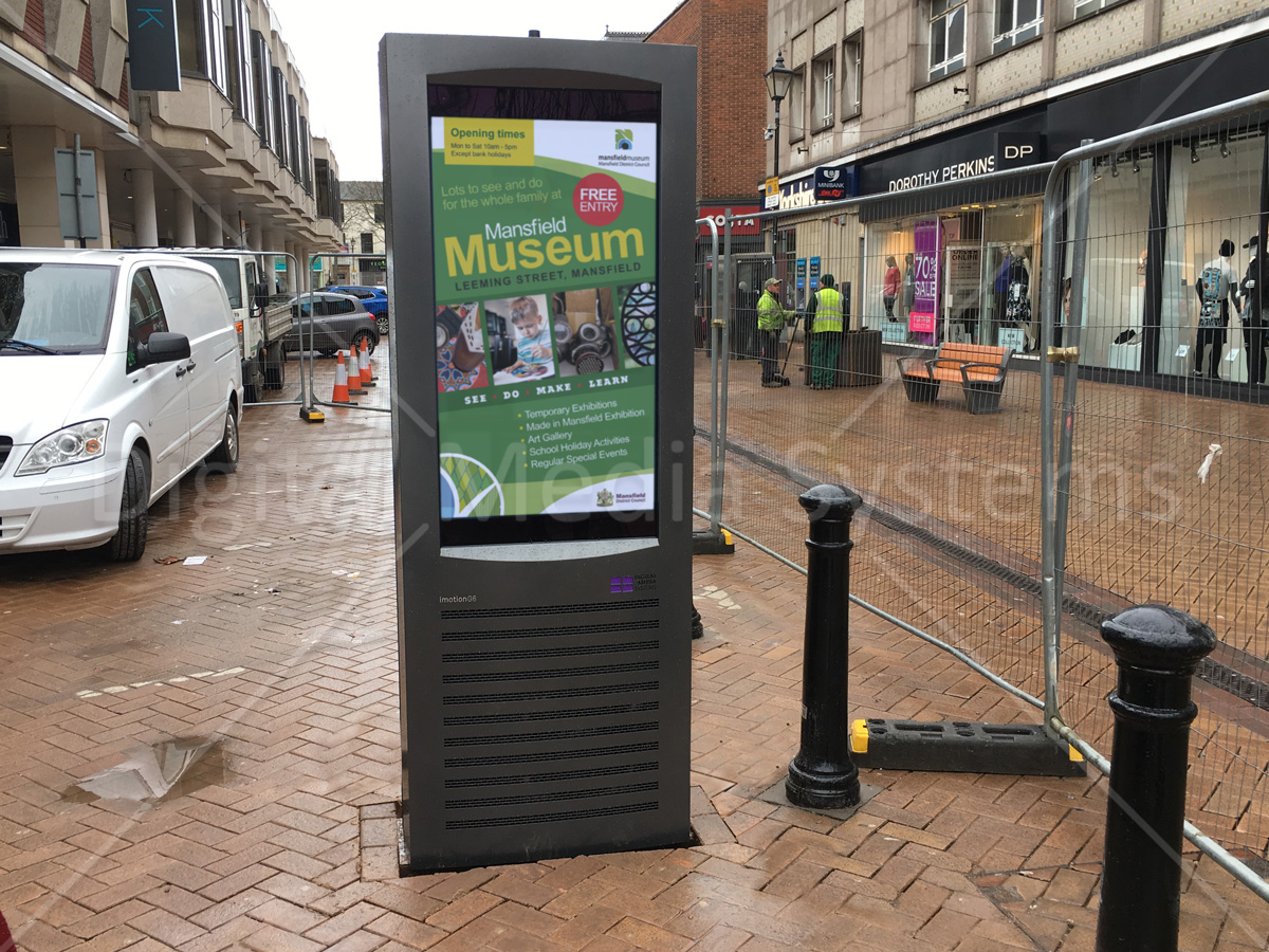 """47"""" Double Sided Outdoor Display at Mansfield Westgate"""