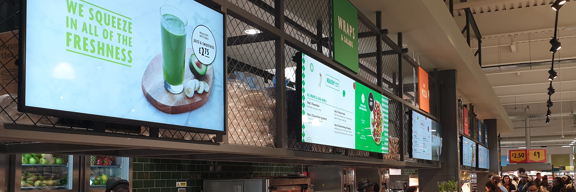 Morrisons London Digital Menu Board Signage
