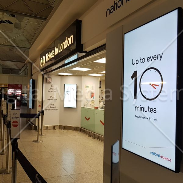 National Express Stansted Airport Screens