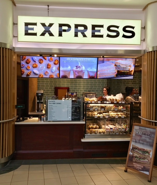 Pattiserie Valerie Xtra Peterborough Digital Menu Board