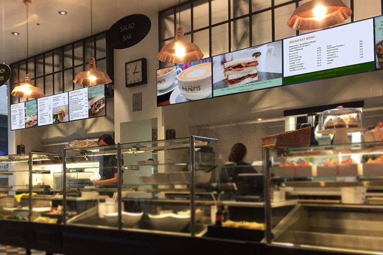 Digital Menu Screens at Philpotts Food Outlet