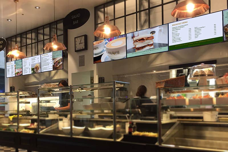 Digital Menu Screens at Philpotts Food Outlet