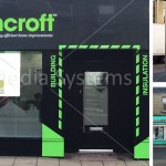 Ploughcroft Transparent LED Glass Advertising window screen Montage