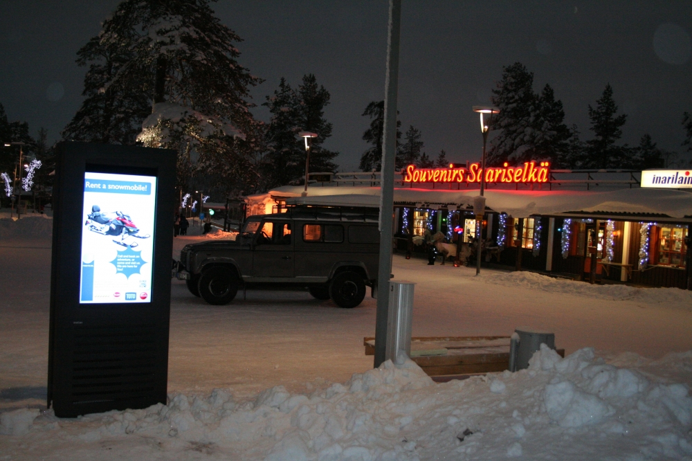 Digital Signage Installation in Saariselka, Finland