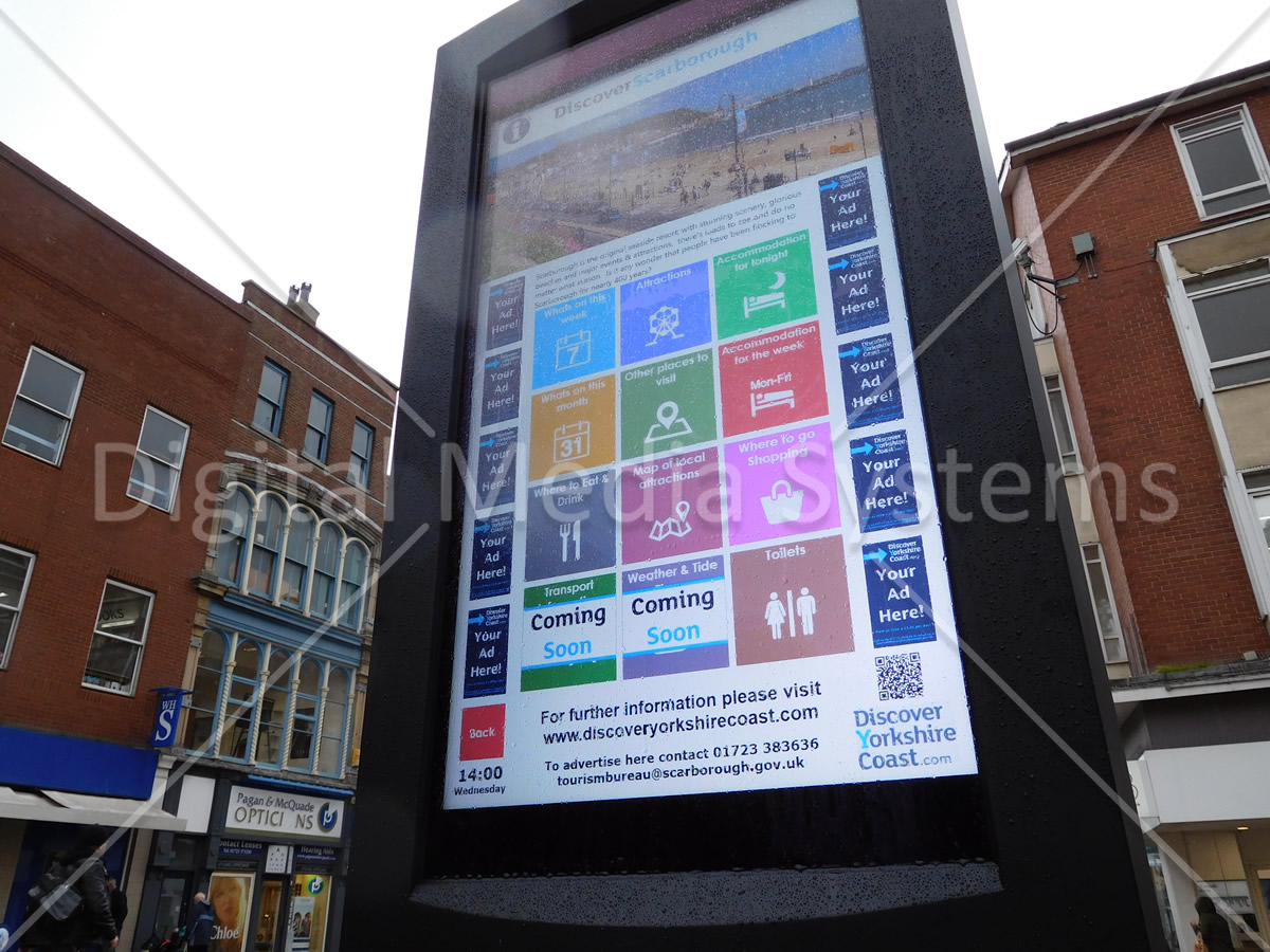 Scaborough Interactive Touch Screen 47 inch double sided