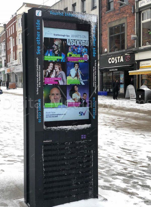 Interactive totem display screen