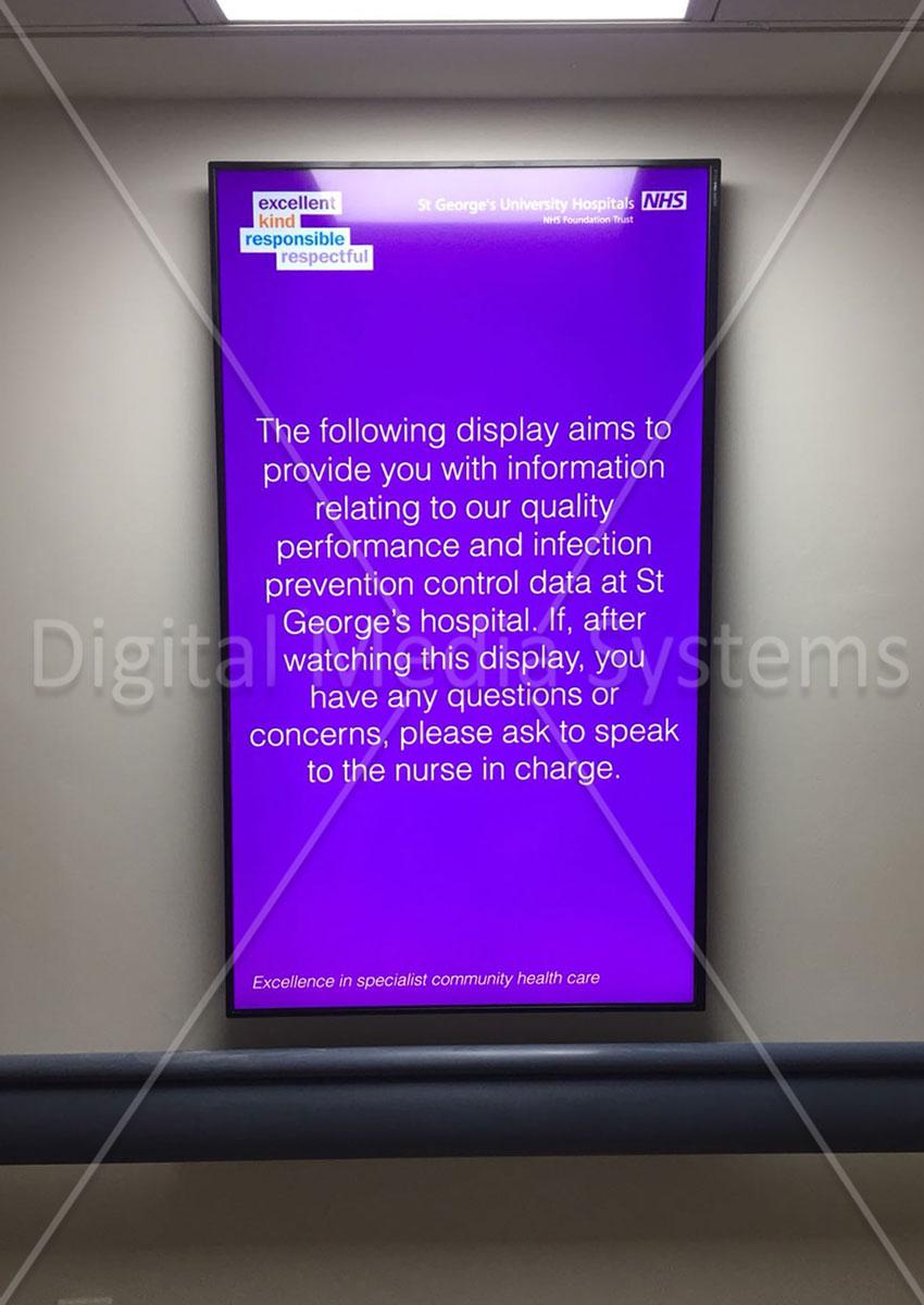 "43"" Digital Display in Portrait for Information"