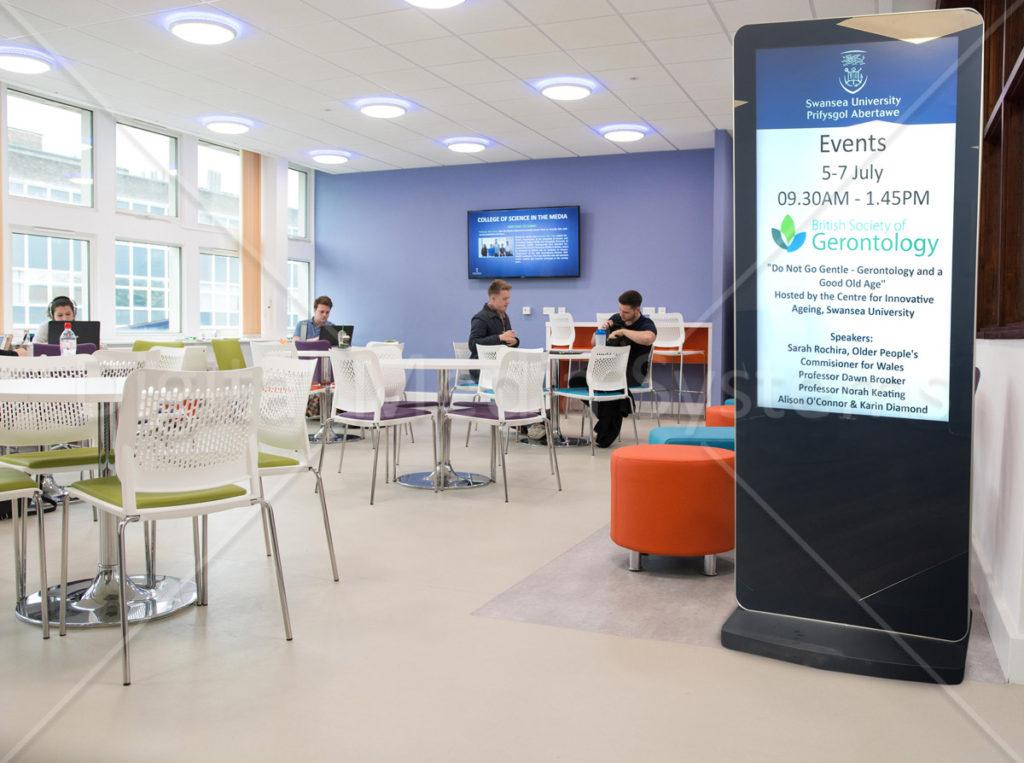 Swansea University digital screen hire
