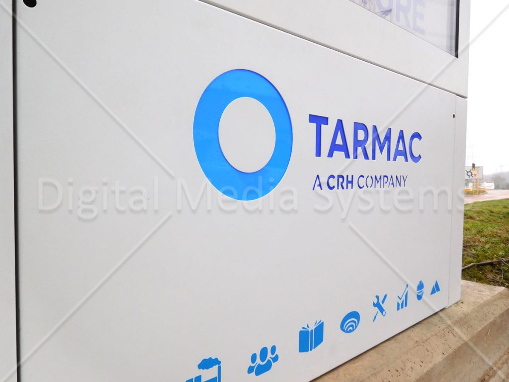 Close up picture of Tarmac LED lit logo