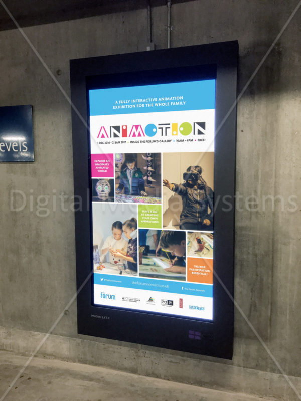 The Forum, Norwich digital signage installation