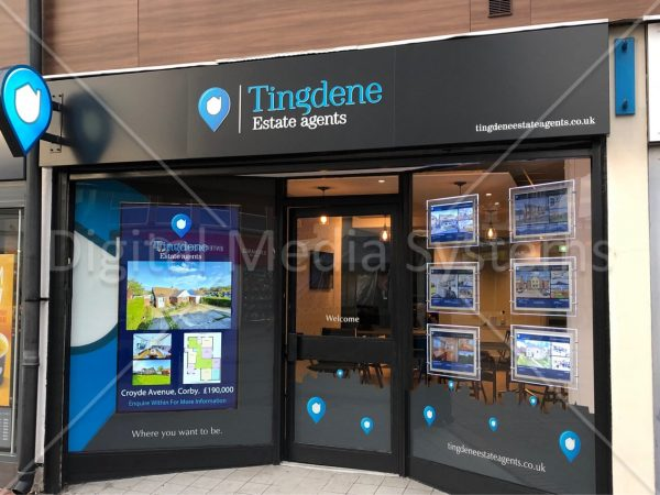 75 inch Digital Window Screen at Tingdene Agents