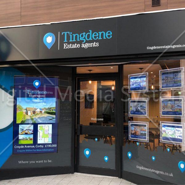 75 inch Digital Window Screen at Tingdene Agents
