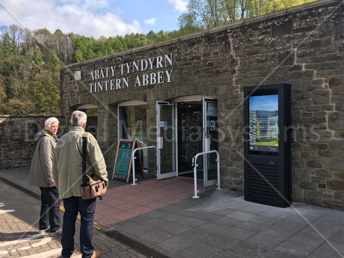 """One 47"""" Weather and Vandal Proof Outdoor Display for Tintern Abbey"""