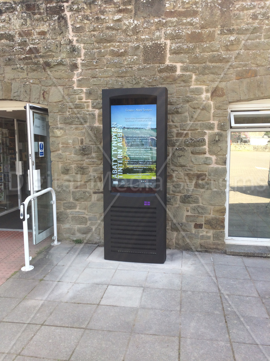 """One 47"""" Weather and Vandal Proof Outdoor Display"""