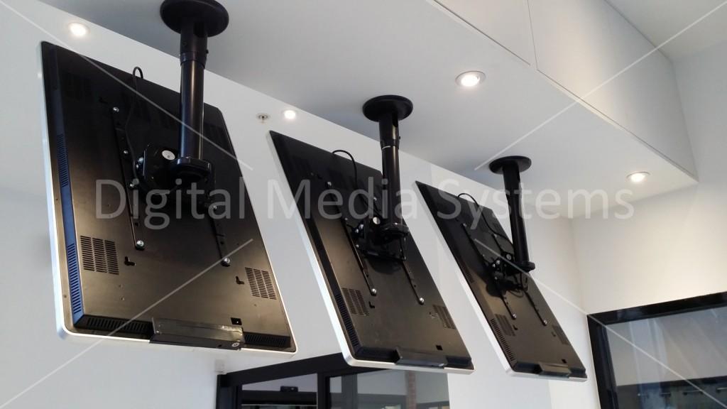 Digital Menu Boards Rear View showing Ceiling Mount Kit