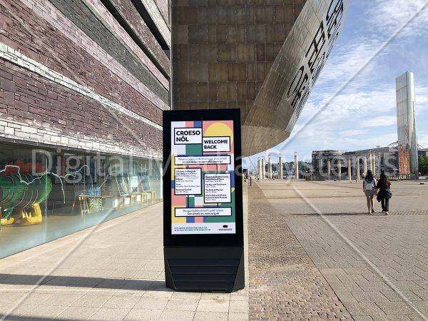 Outdoor Digital Sign at Wales Millennium Centre